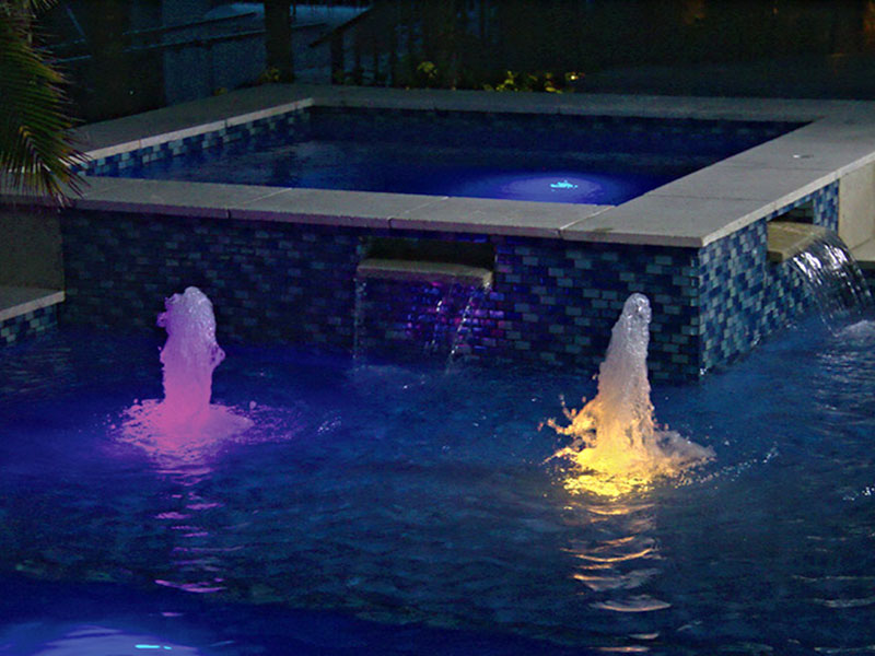 LED Water Feature Colorvision Lights in Orlando, Florida